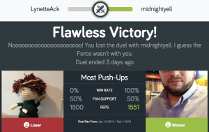 Official Fitocracy Duel